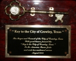 City Of Crowley, Texas - Key To The City